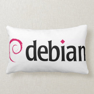 debian Linux Logo Lumbar Throw Pillow