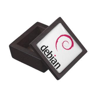 debian Linux Logo Premium Jewelry Boxes