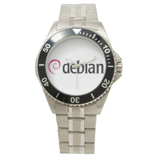 debian Linux Logo Quartz Wrist Watch