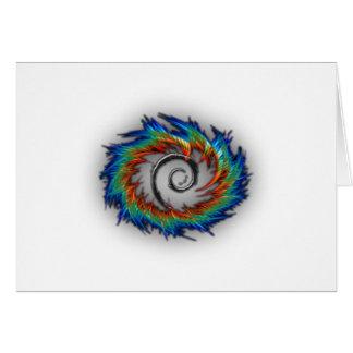 Debian swirl greeting card