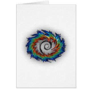 Debian swirl greeting cards