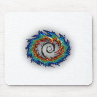 Debian swirl mouse pad
