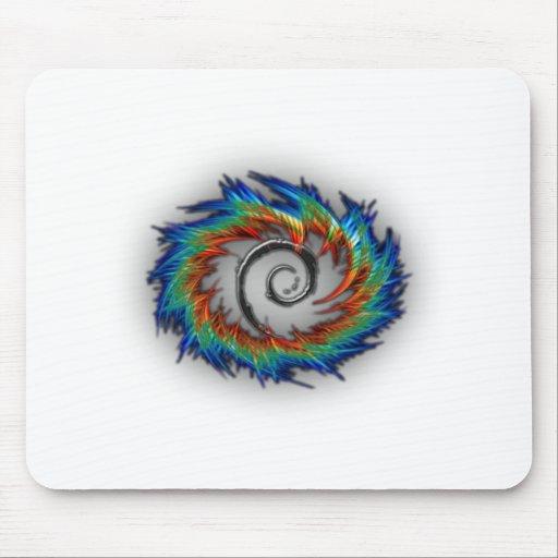 Debian swirl mousepads
