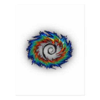 Debian swirl postcard