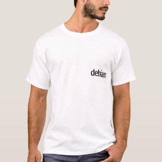 debian white ninja T-shirt