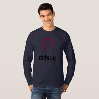 Debian Word Official Logo Spiral Swirl T-Shirt