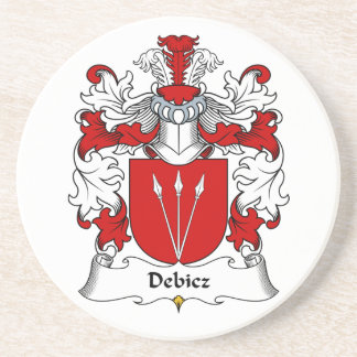 Debicz Family Crest Drink Coasters