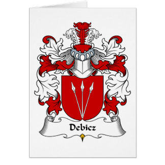 Debicz Family Crest Greeting Card