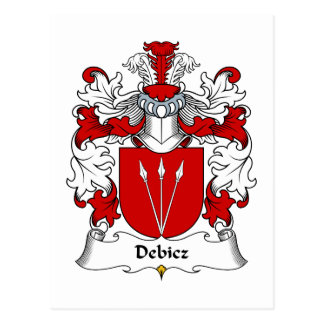 Debicz Family Crest Post Cards