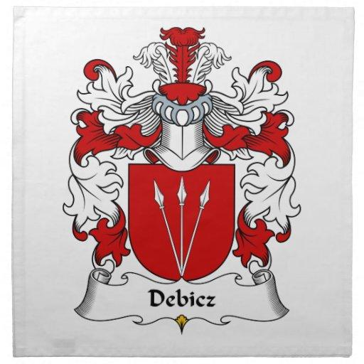 Debicz Family Crest Printed Napkin