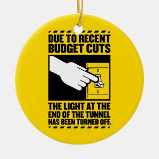 Debido a los recortes presupuestarios, la luz en adorno redondo de cerámica