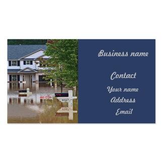 Debido inundada nuevo hogar asaltar tarjeta de visita