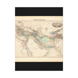 Debilitated World Map 16 Canvas Print