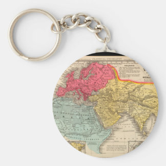 Debilitated World Map 16 Keychain
