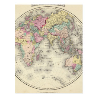 Debilitated World Map_Maps of Antiquity Postcard