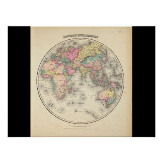 Debilitated World Map_Maps of Antiquity Poster