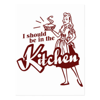 Debo estar en la cocina tarjetas postales