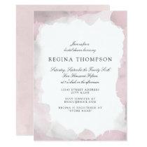 Debonair Blush Pink Bridal Shower Invitation