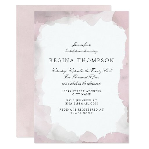 Debonair Blush Pink Bridal Shower Invitation