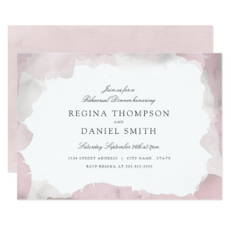 Debonair Blush Pink Rehearsal Dinner Invitation