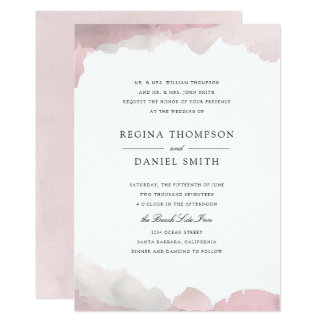 Exceptionnel Wedding Invite Customized With Watercolor Background   Debonair Blush Pink