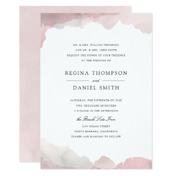 Debonair Blush Pink Wedding Invitation by origamiprints at Zazzle