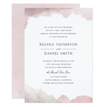 origamiprints Debonair Blush Pink Wedding Invitation