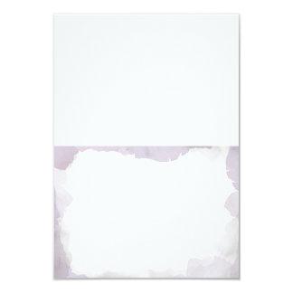 Debonair Lavender Wedding Folded Escort Cards