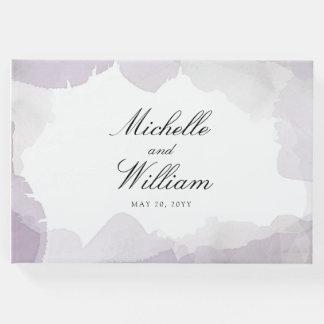 Debonair Lavender Wedding Guest Book