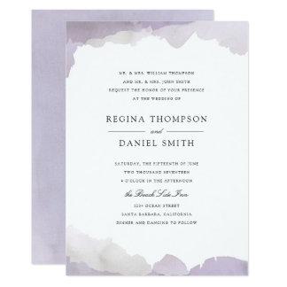 Beautiful Debonair Lavender Wedding Invitation