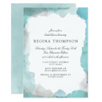 Debonair Turquoise Bridal Shower Invitation