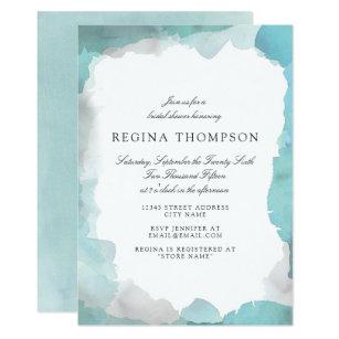 Turquoise bridal shower invitations announcements zazzle debonair turquoise bridal shower invitation filmwisefo