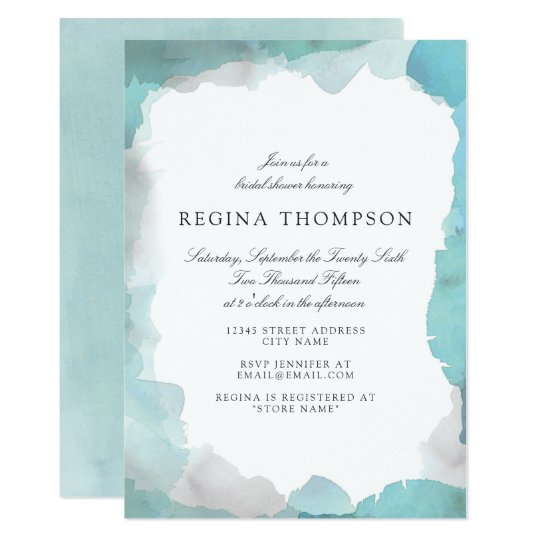 Debonair turquoise bridal shower invitation zazzle debonair turquoise bridal shower invitation filmwisefo