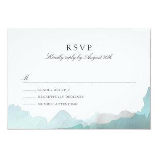 Debonair Turquoise RSVP Card
