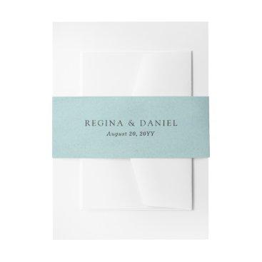 origamiprints Debonair Turquoise Wedding Invitation Belly Band