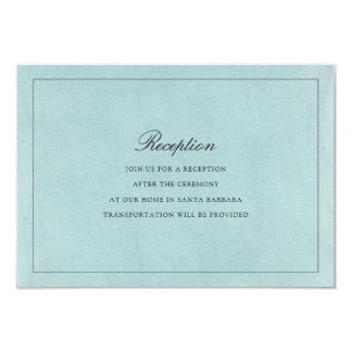 Debonair Wedding Reception Card