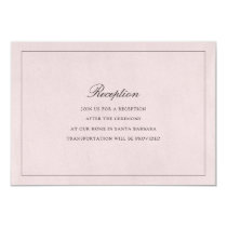Debonair Wedding Reception Card