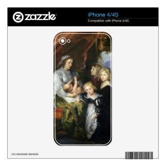 Deborah Kip and Her Children Decals For iPhone 4