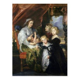 Deborah Kip and Her Children Postcard