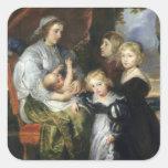 Deborah Kip y sus niños Calcomanías Cuadradas