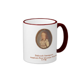 Deborah Sampson America's First Woman Warrier Ringer Coffee Mug