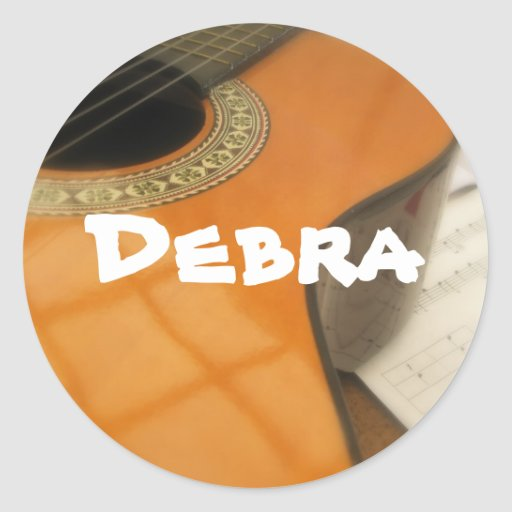 Debra Classic Round Sticker