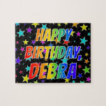 "[ Thumbnail: ""Debra"" First Name, Fun ""Happy Birthday"" Jigsaw Puzzle ]"