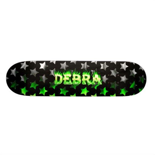 Debra green fire Skatersollie skateboard.