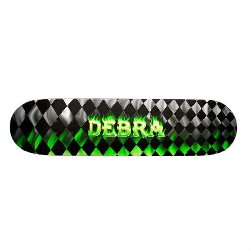 Debra green fire Skatersollie skateboard. Skate Decks