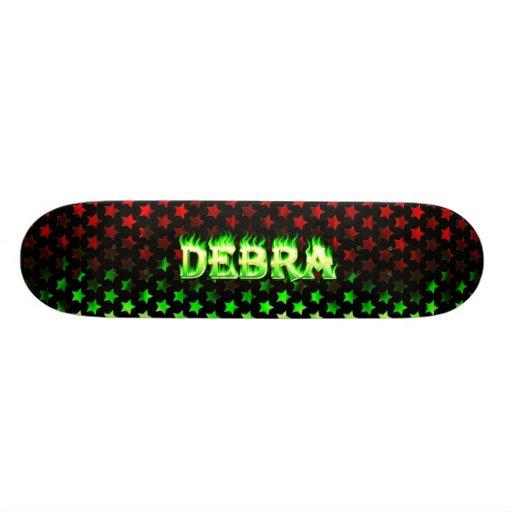 Debra green fire Skatersollie skateboard. Skate Board