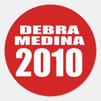 DEBRA MEDINA 2010 ROUND STICKERS