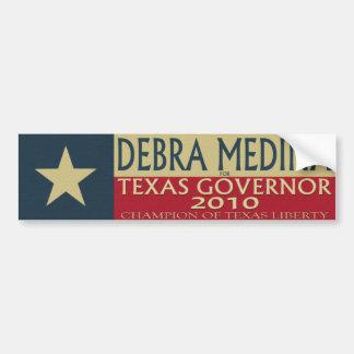 Debra Medina para el gobernador 2010 de TX - Stick Pegatina Para Auto