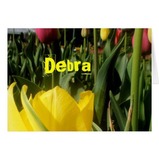 Debra Tarjeta De Felicitación