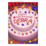 Debra's Birthday Cake Card